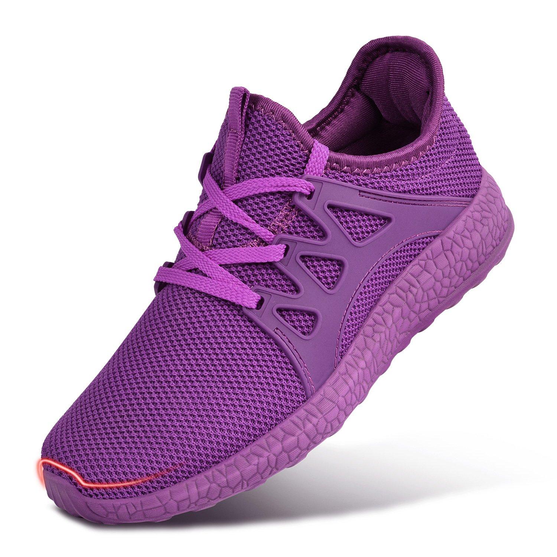 Feetmat Womens Sneakers Ultra Lightweight Breathable Mesh Walking Gym Tennis Athletic Running Shoes B077842T91 6 M US|Purple