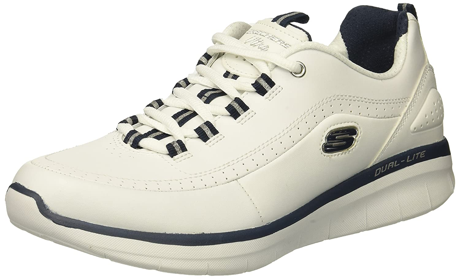 Skechers Women's Synergy 2.0 Fashion Sneaker B01MYALKOW 8 B(M) US|White/Navy
