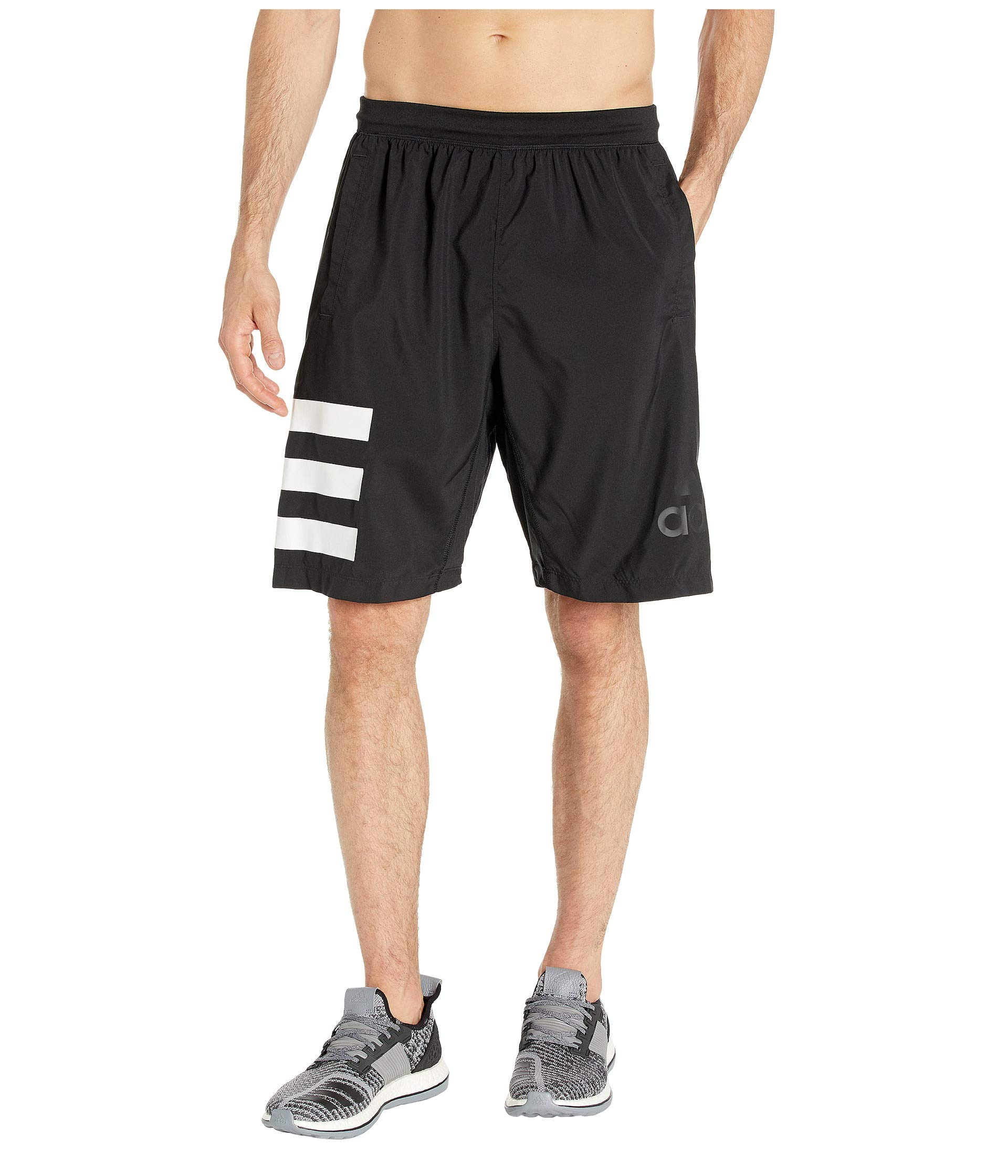 adidas Men's Tennis Club 9-Inch Shorts, Black/White, Small