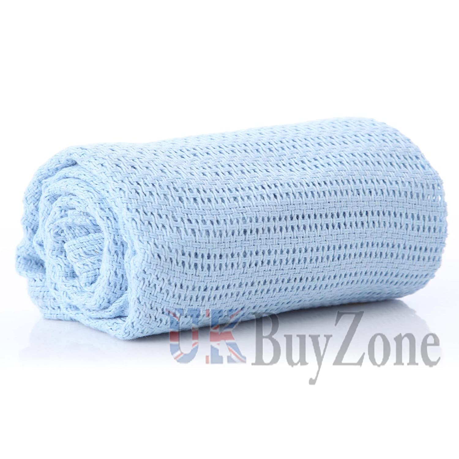 2 Pack Quality 100/% Baby Cotton Cellular Blankets Cot Bed Large Size 86 x 112cm