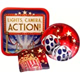 Hollywood Movie Party Supply Pack! Bundle Includes Paper Plates & Napkins for 8 Guests