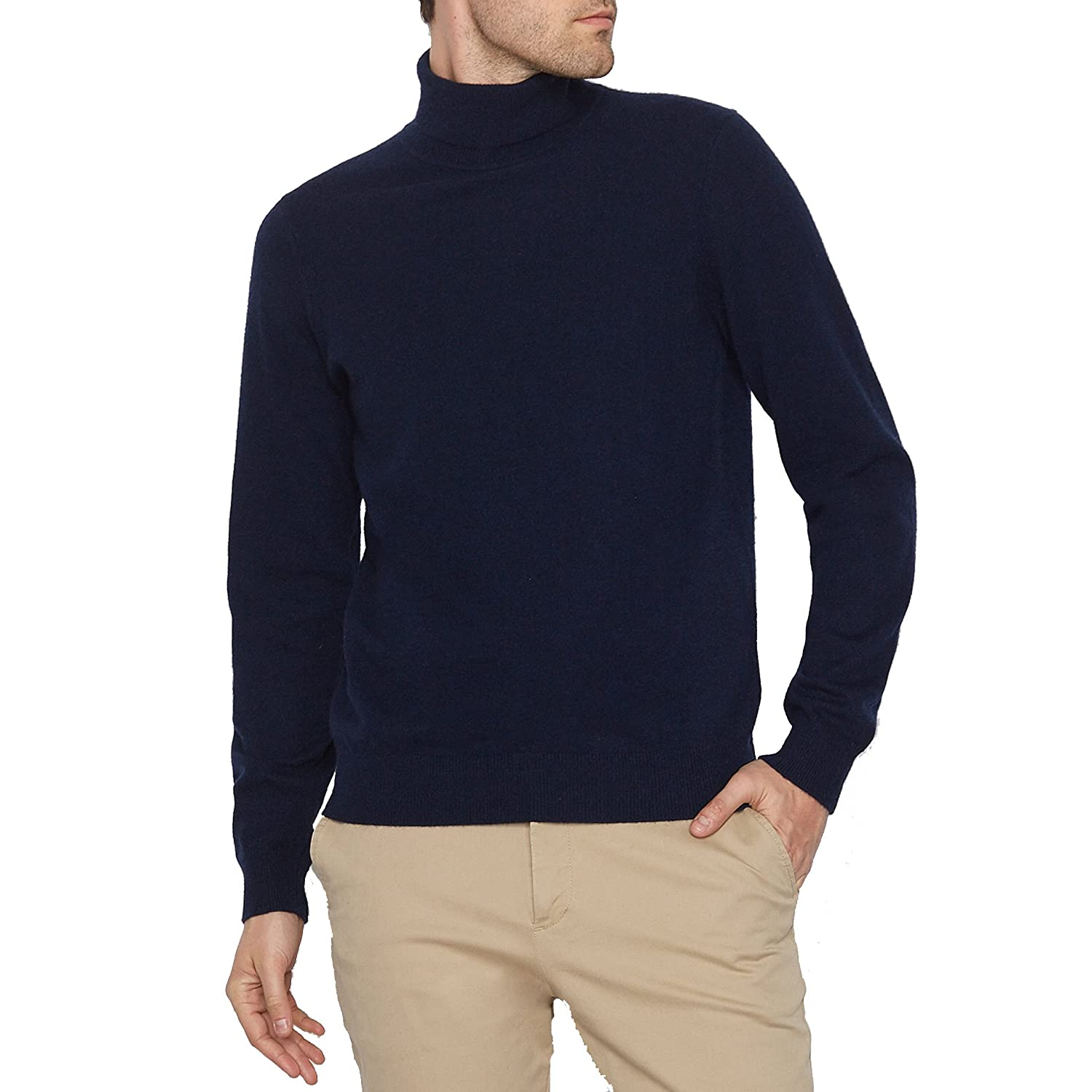c6dc5541adf La Redoute Collections Mens Cashmere Roll Neck Jumper/Sweater Blue ...