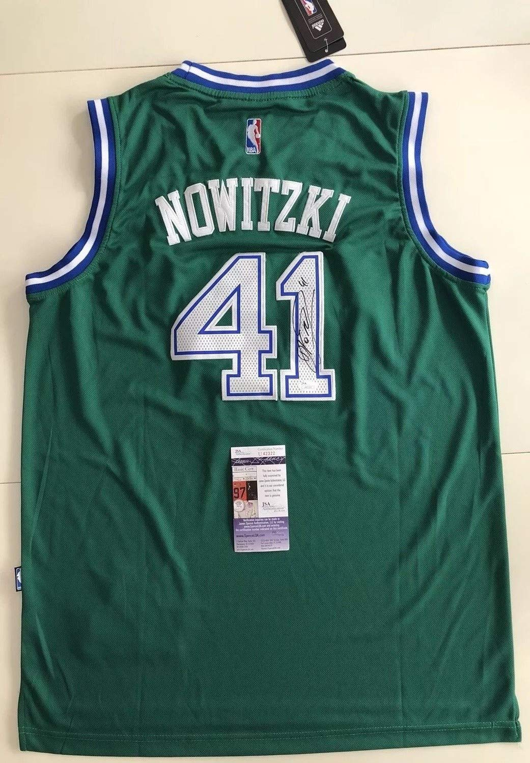 42e7a11d1 Dirk Nowitzki Autographed Signed Dallas Mavericks Jersey Memorabilia JSA  COA  41 Nba All Star Germany at Amazon s Sports Collectibles Store