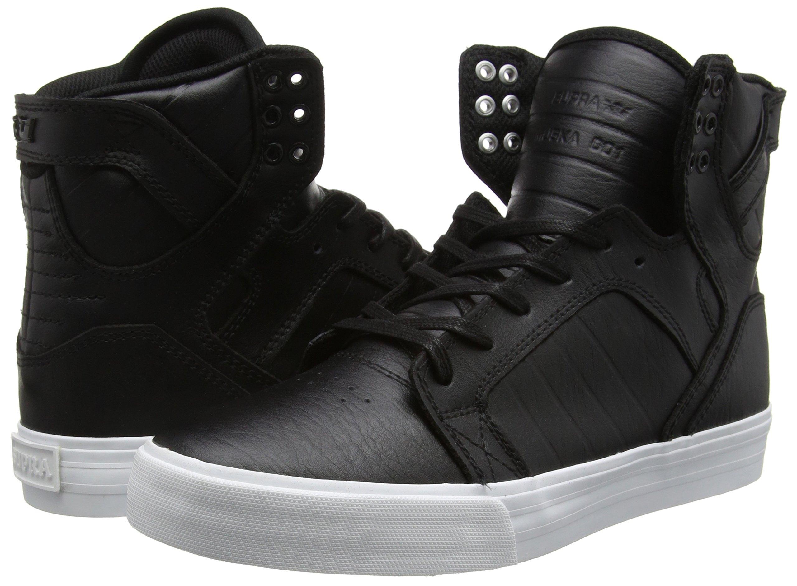 Supra Skytop Skate Shoe, Black/White, 5.5 Regular US by Supra (Image #5)
