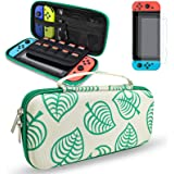 Switch case, DLseego Carrying Case Accessories Kit Compatible with Nintendo Switch, for New Leaf Crossing Design with 2 Pack