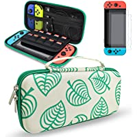 Switch case, DLseego Carrying Case Accessories Kit Compatible with Nintendo Switch, for New Leaf Crossing Design with 2…