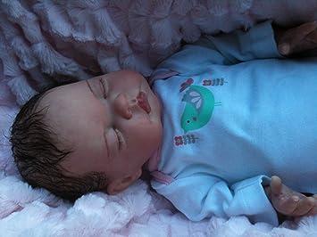 Amazon.es: Muñeca bebé recién nacido, con pelo y chupete magnético ...
