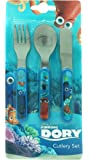 Disney Finding Dory Metal Cutlery Set, Multi-Colour, 3-Piece