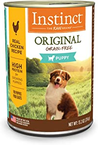 Instinct Grain Free Wet Puppy Food, Original Recipe Natural High Protein Canned Puppy Food