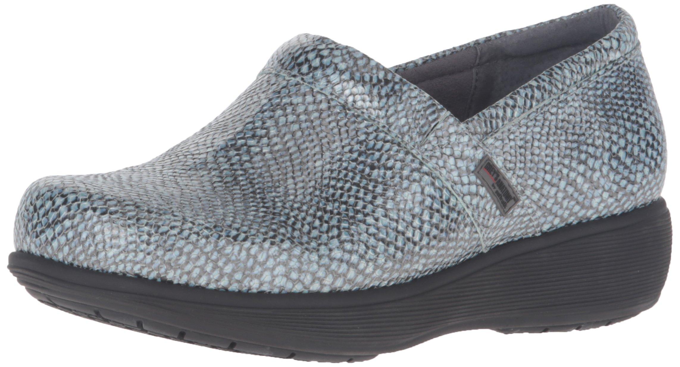 Softwalk Women's Meredith Shoe, blue snake, 8.0 M US