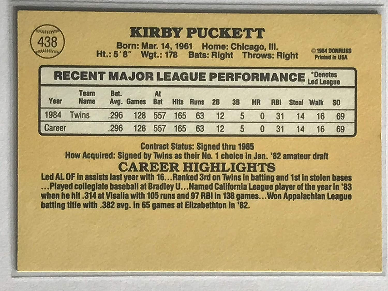 1985 Donruss #438 Kirby Puckett NM//M Near Mint//Mint