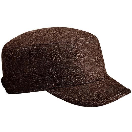 fe547682ec9 Beechfield Unisex Melton Wool Blend Cadet Army Cap (One Size) (Chocolate)