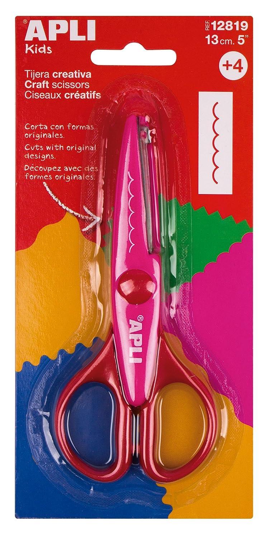 APLI Forbici creativi dents-Lame di 13/cm 012819 Multicolore