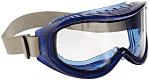 Sellstrom S80201 Odyssey II Indirect Vented Dual Scratch-Resistant Anti-Fog Clear Lens Chemical Splash Goggle, Safety Goggle, Blue