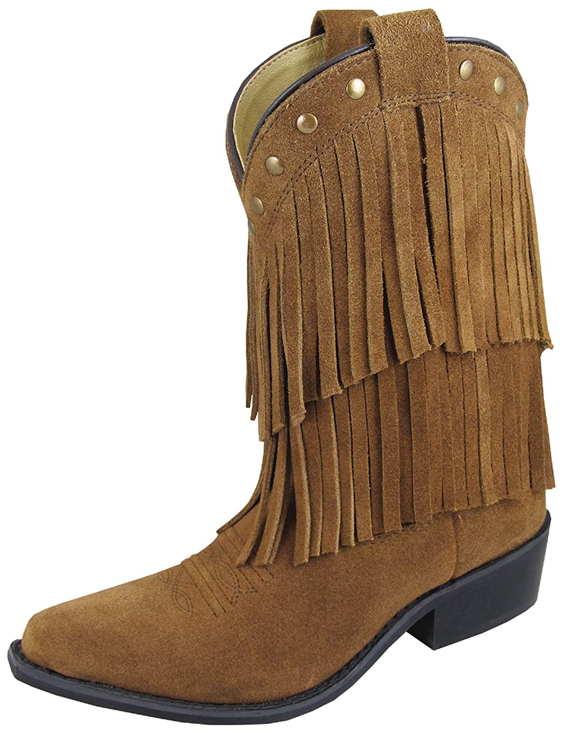 Smoky Girls Wisteria Double Fringe Tan Western Boot Smoky Mountain Boots 3514Y
