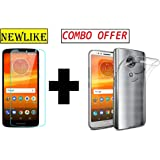 Newlike Combo of Premium Real 2.5D 9H Anti-Fingerprints & Oil Stains Coating Hardness Screen Protector Guard and Back Case for Motorola Moto E5 Plus