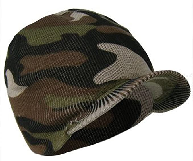 0e743ed69df Mens or Boys Camouflage Beanie Hat (Peaked Beanie)  Amazon.co.uk  Clothing