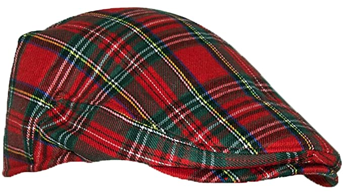 1eee6a5718 iLuv Modern Flat Cap in Royal Stewart Scottish Tartan Small to Medium Red
