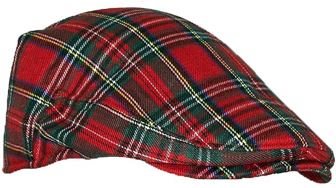 53eb919e0 Modern Flat Cap in Royal Stewart Scottish Tartan