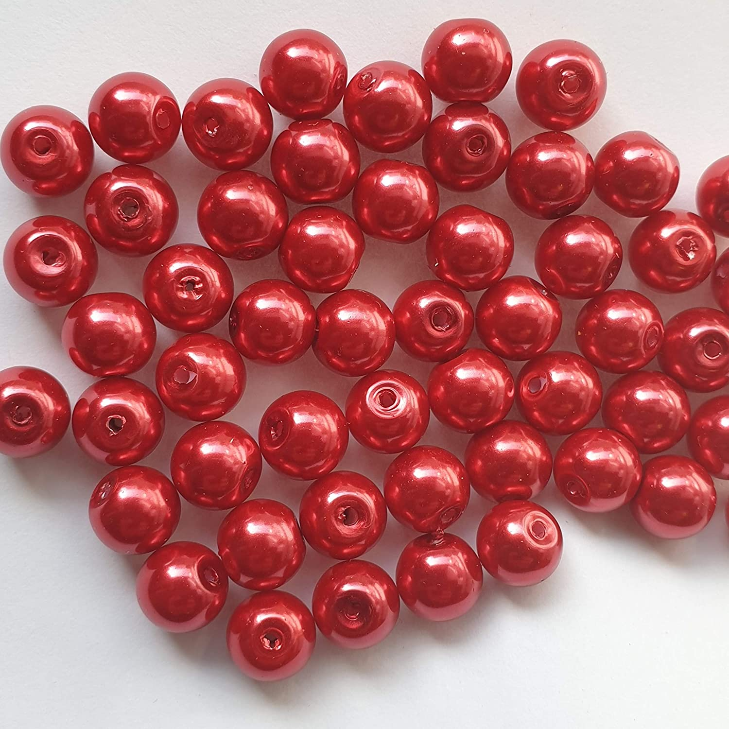 Beads are not stuck. loose spacer beads Bright Red A0930 NEW PACKAGING k2-accessories /® 200 pieces 4mm Glass Pearl Beads Tiny Beads