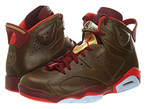 timeless design 8f570 e75f7 ... netherlands amazon air jordan vi 6 retro cigar raw umber challenge red  team red metallic 10