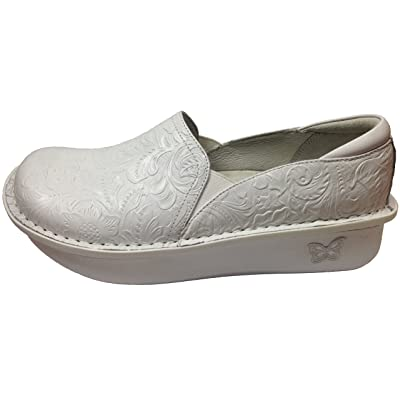 Amazon.com | Alegria Women's Debra Exclusive Professional Shoe (42 Wide/ 11-11.5 Wide, White Tooled) | Mules & Clogs