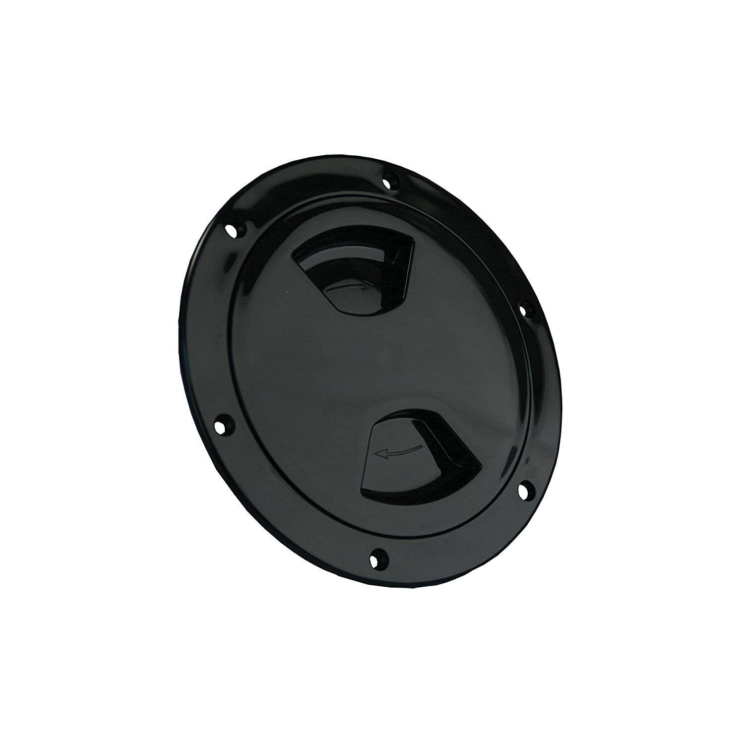 JR Products 31005 White 4-Inch Access//Deck Plate