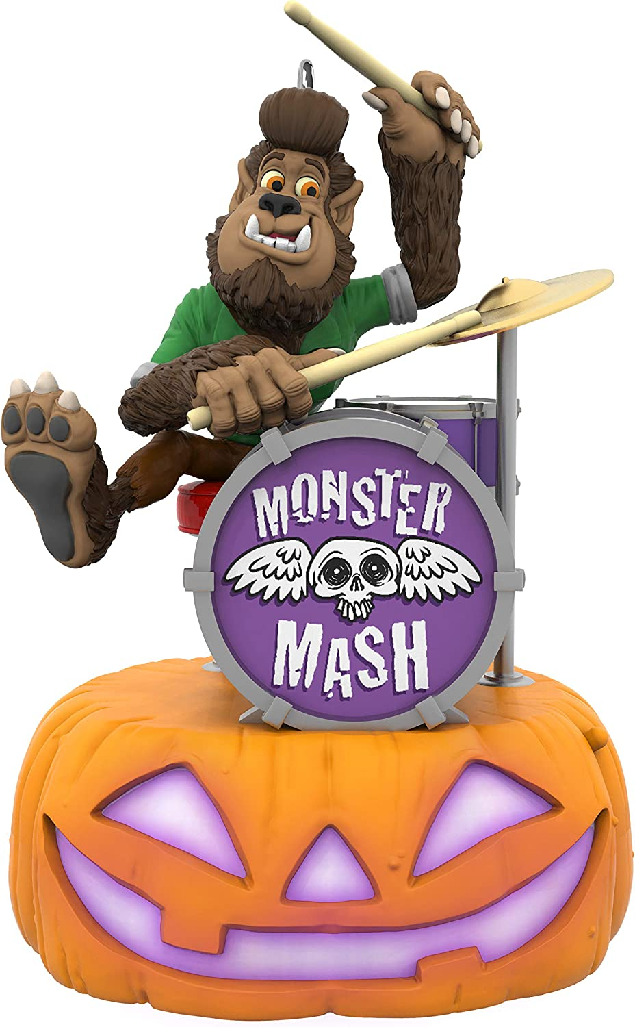 Hallmark Halloween Ornament 2019 Monster Mash Collection Wolfgang on Drums