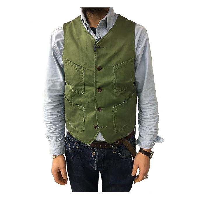 MANIFATTURA CECCARELLI gilet uomo verde mod 6908 100% cotone MADE IN ITALY  vestibilità slim  Amazon.it  Abbigliamento 96553a4600a