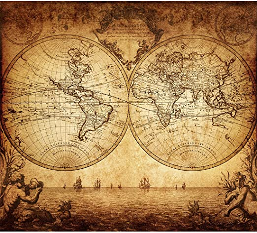 nautical sailing map of the world Amazon Com Vintage Old World Map Poster Print Art 1733 Nautical