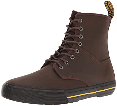 Dr. Martens Winsted, Bottines de Ville Mixte Adulte, Marron (Dark Brown Greasy Lamper Vulc 201), 44 EU