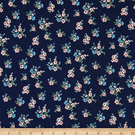 Double Brushed Knit Digital Print Soft Fabric Stretchy Flowy Polyester Spandex Fabric DIY Fabric Apparel Fabric lightweight fabric Floral