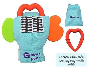 Gummee Glove Baby Teething Mitten Premium Quality 100/% Cotton Mitt Detachable...