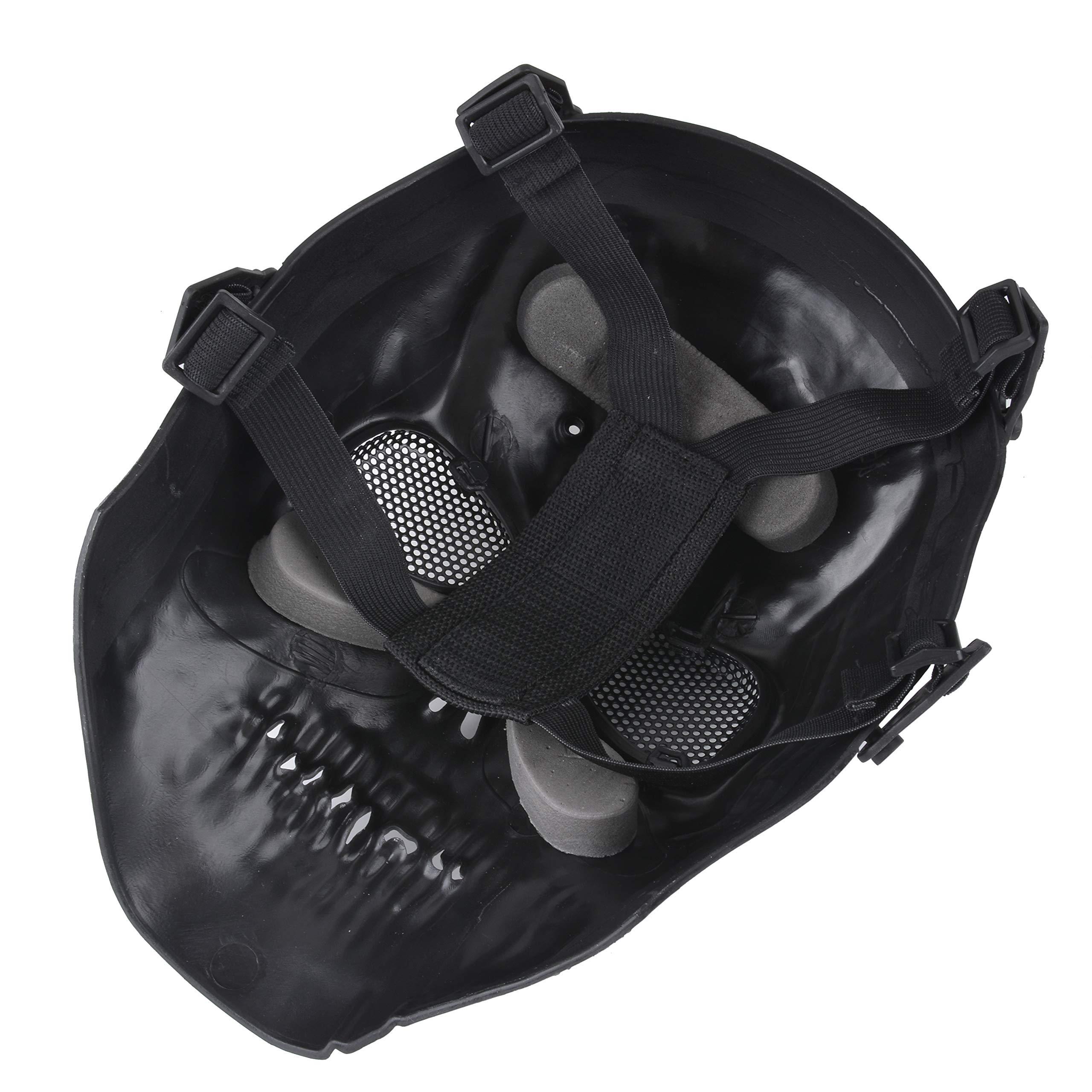 Fansport Halloween Costume Skull Skeleton Mask Full Length Hooded Cloak Adult Cape with Scary Halloween Mask