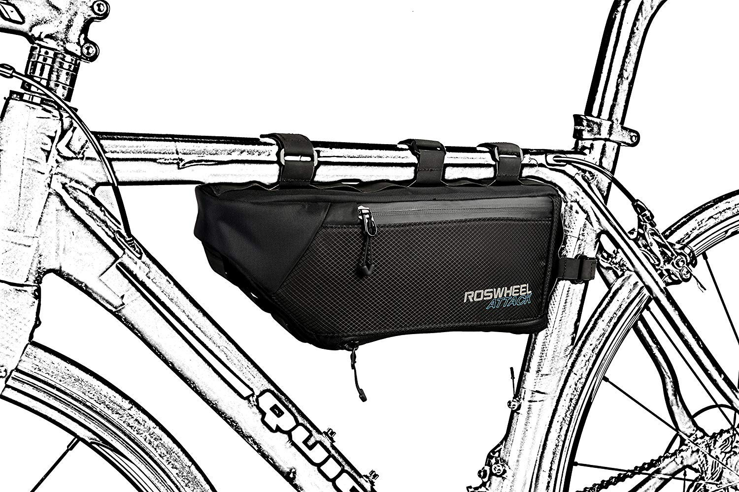 a02f7b70143 Roswheel Attack Series 121371 Waterproof Expandable Capacity Bike Frame  Triangle Bag for Bicycle Cycling Accessories: Amazon.ca: Sports & Outdoors