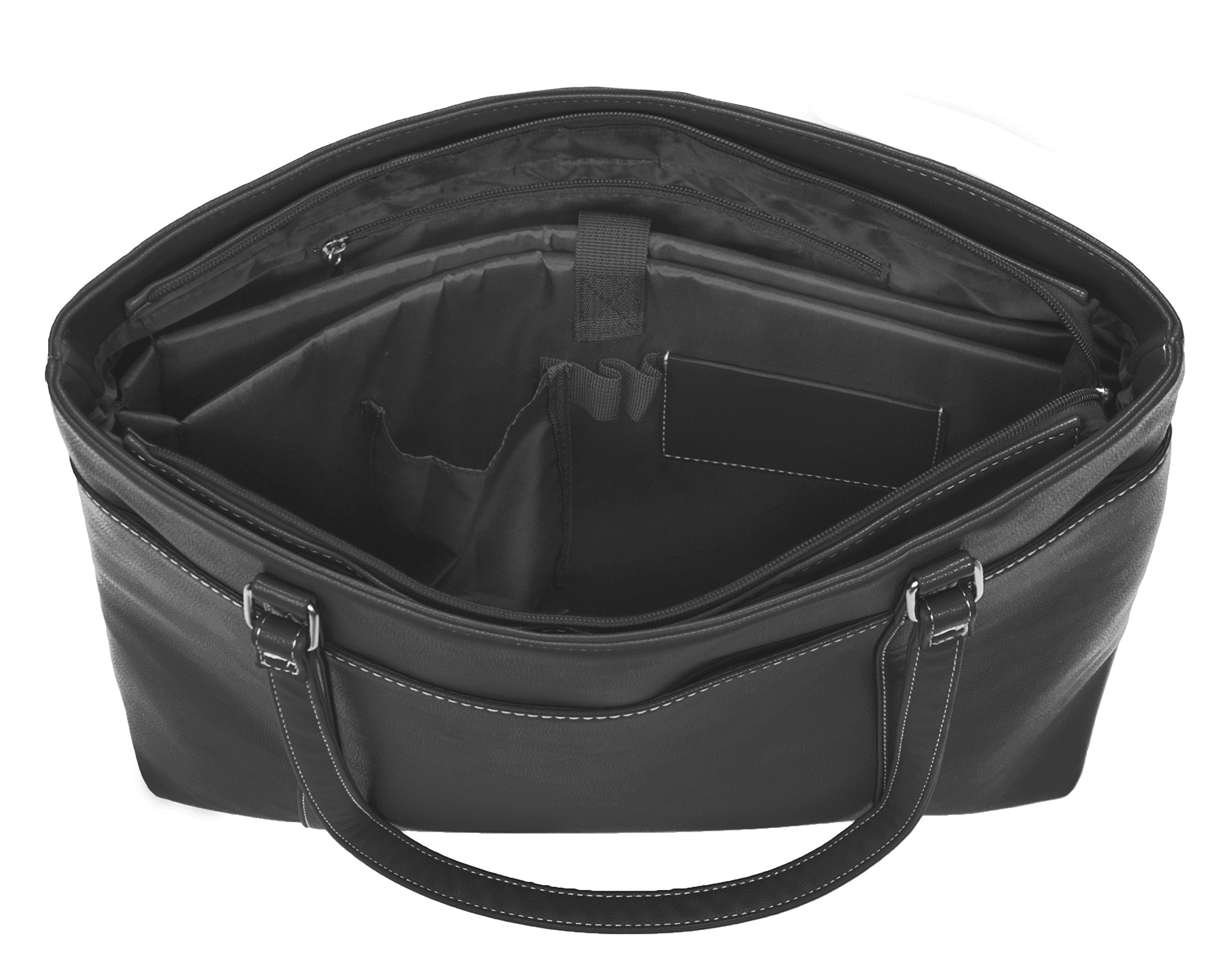 Overbrooke Classic Womens Tote Bag for Laptops  up to 15.6 Inches, Black by Overbrooke (Image #4)