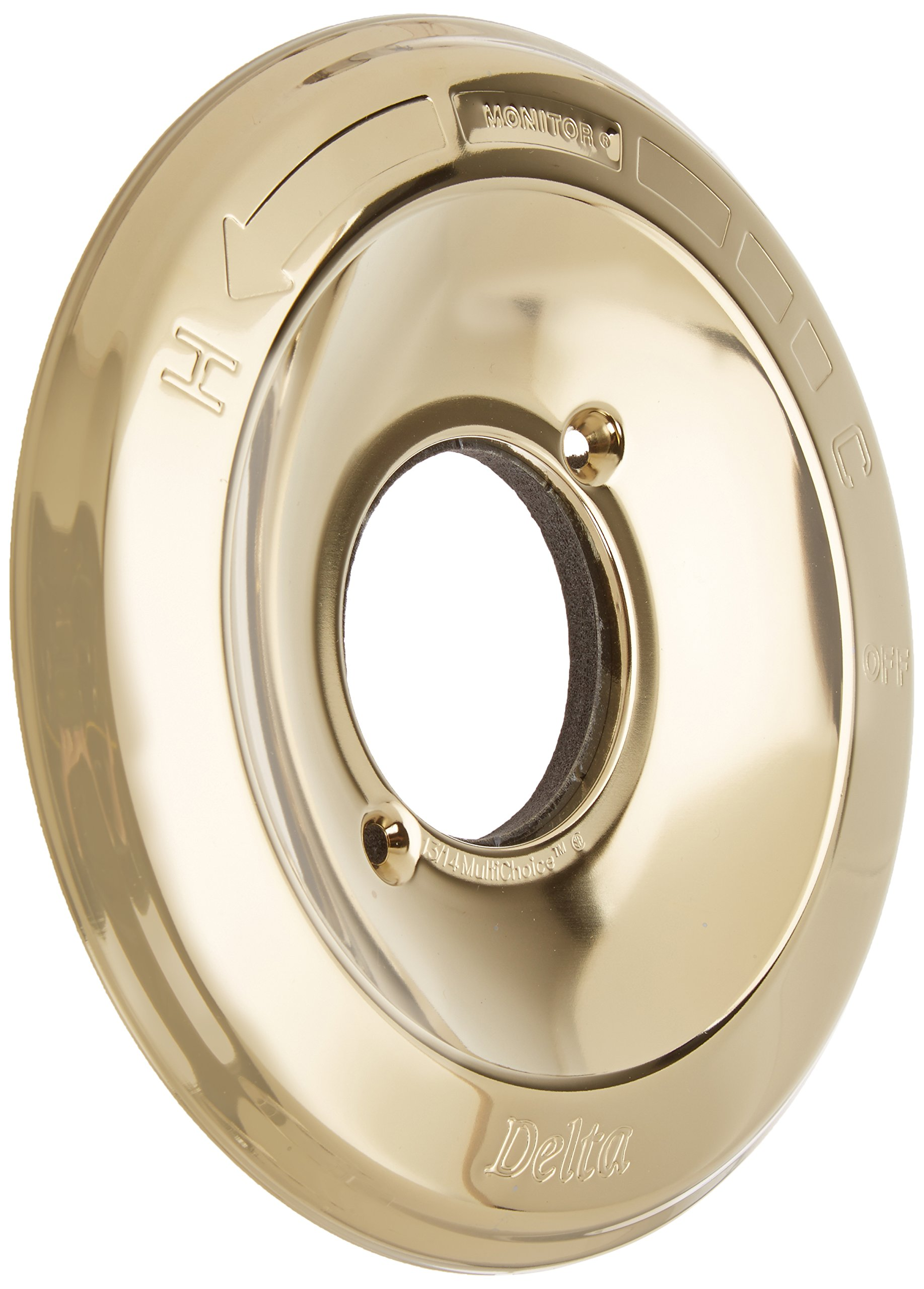 Delta Faucet RP19809PB Escutcheon for Delta 13 and 14 Series, Polished Brass by DELTA FAUCET (Image #1)