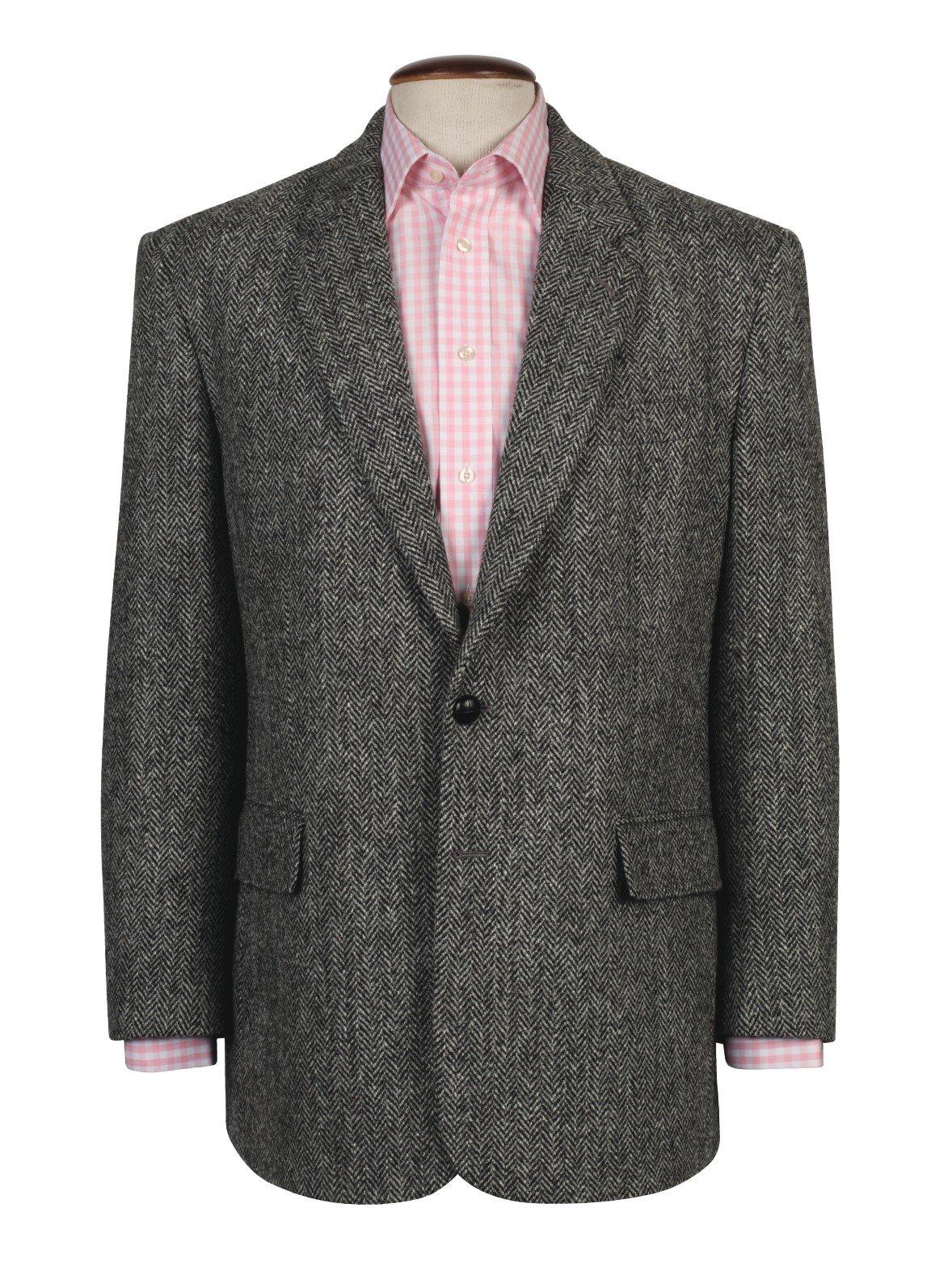 The Fine Swine Men's Harris Tweed Jacket Laxdale 40 Long Green mix