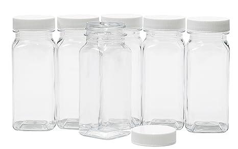 Amazon.com: Plaza de plástico transparente baire Botellas ...