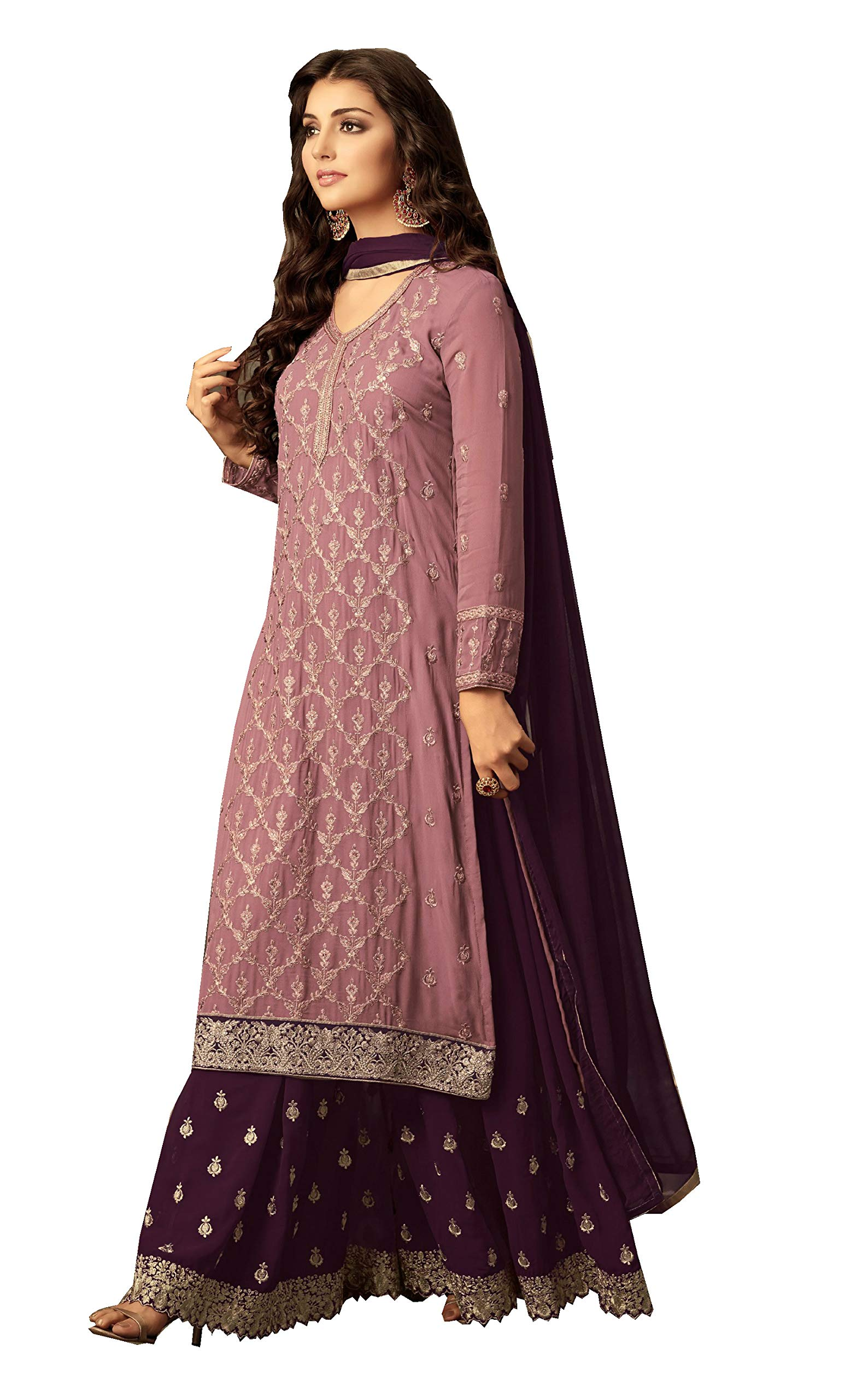 Koti Indian Fashion Dresses for Women RH-4111 (X-LARGE-44, Pink)