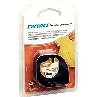 Dymo LetraTag Ruban Textile 1,2 cm x 2 m - Noir sur Blanc