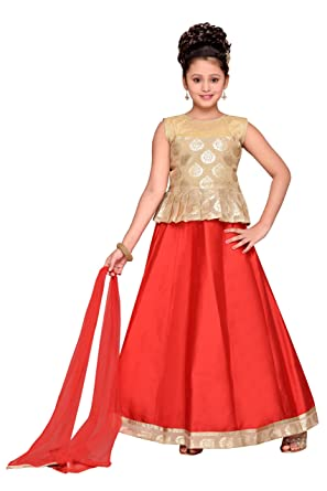c2678264e0 Amazon.com: Adiva Girl's Indian Party Wear Lehenga Choli for Kids ...