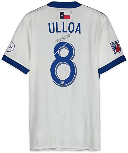 sports shoes 27d4a 64929 Victor Ulloa FC Dallas Autographed Match-Used Blue and White ...