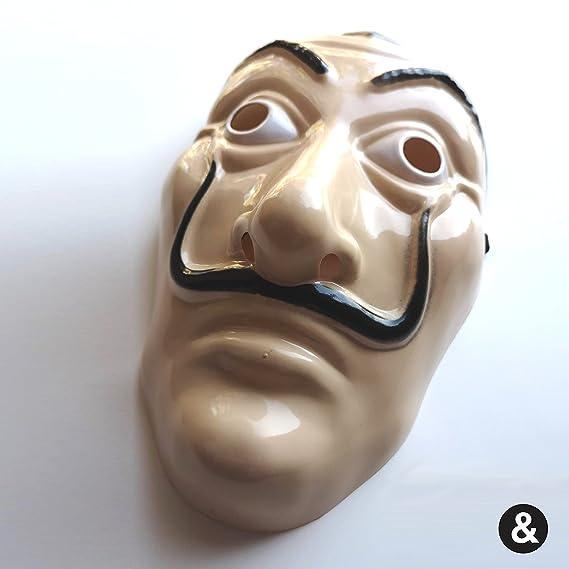 Máscara rígida de Dali de la CASA de Papel, ideal para el disfraz de CASA de Papel para la cara: Amazon.es: Juguetes y juegos