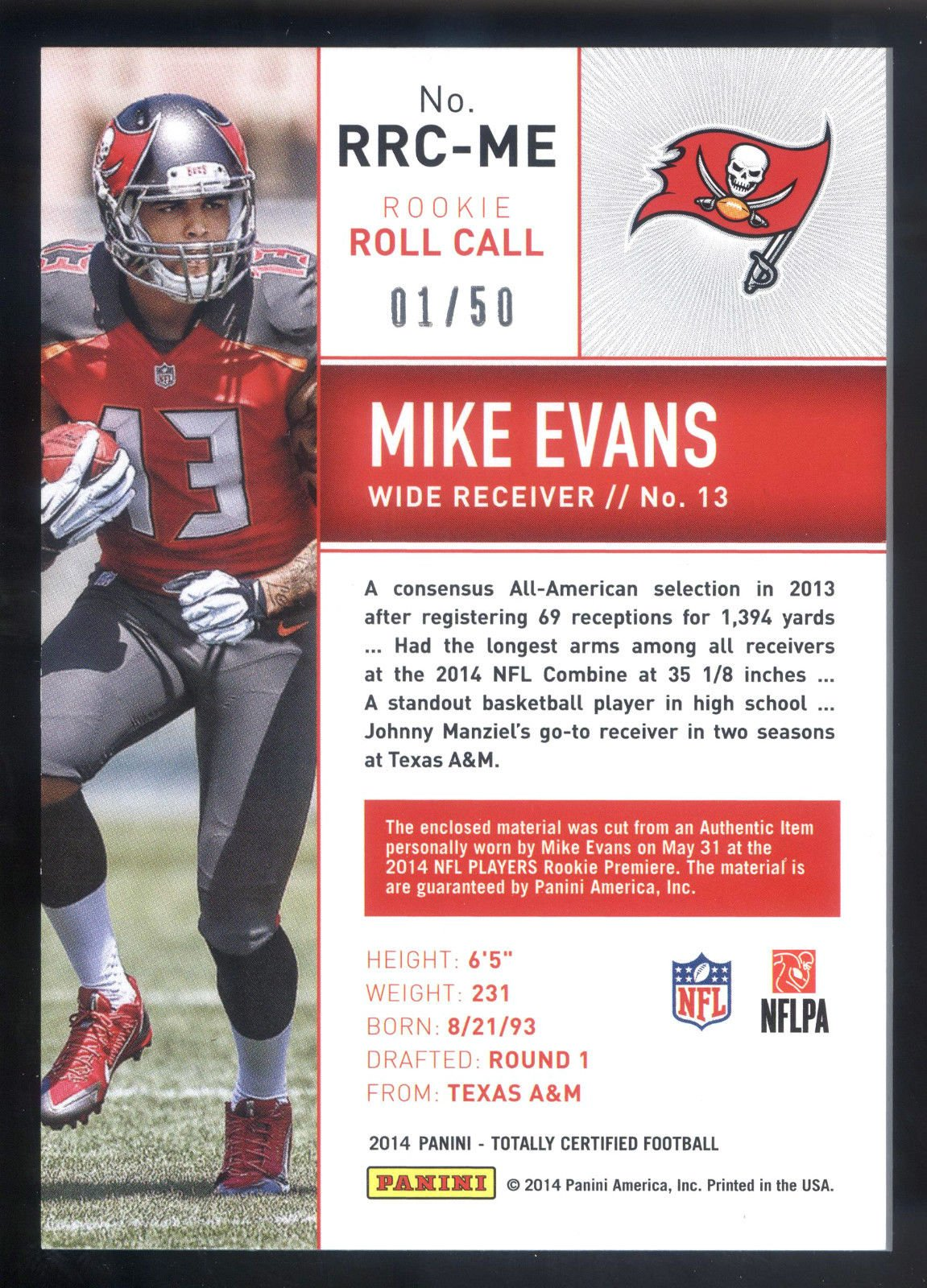 2014 Totally Certified Rookie Roll Call Blue #ME