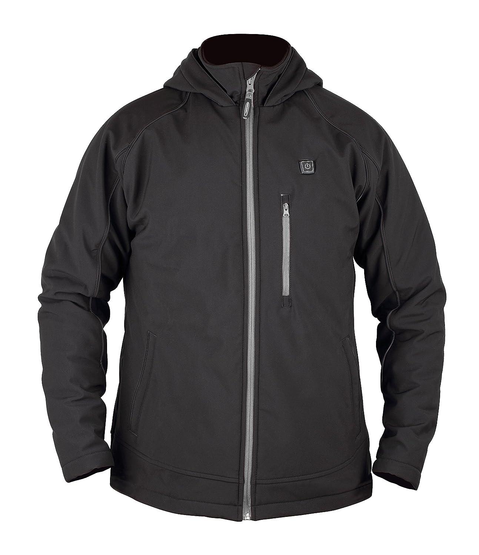 Prosmart Men's Heated Jacket with hood and 12Volt Battery Pack(Black)