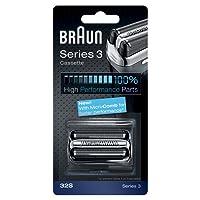 Braun Pièce de Rechange 32S Argentée pour Rasoir Compatible avec les Rasoirs Series 3