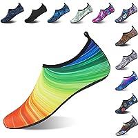 Mabove Chaussures Aquatique pour Femme et Homme Chaussures d'eau Chaussures de Plage de Yoga de Surf de Nager Sport Aquatique Chaussettes de Plongée pour Piscine et Plage