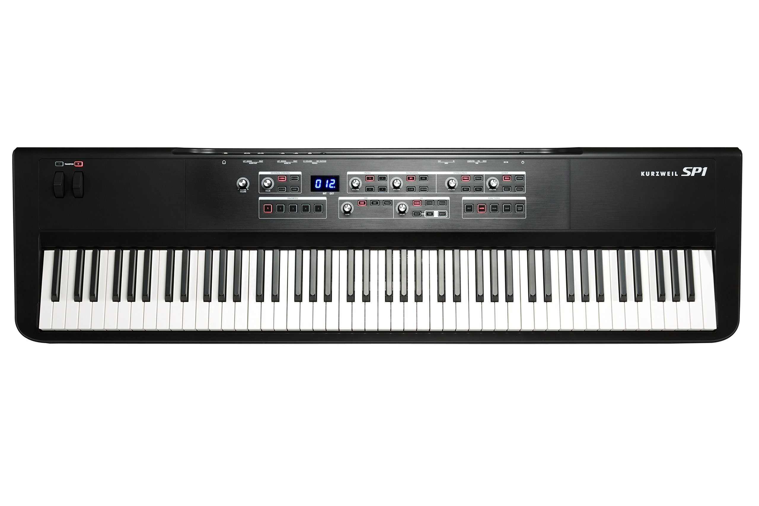Kurzweil SP1 88-Key Stage Piano, Black (SP1-LB) by Kurzweil