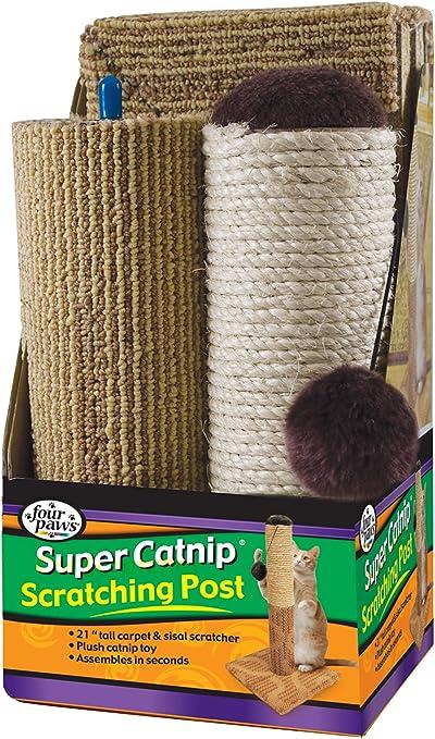 Four Paws Super Catnip - Poste rascador para Gatos, sisal y ...